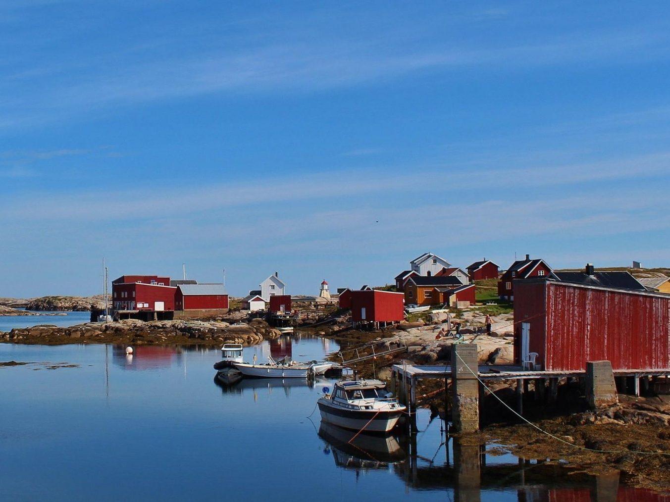 Sommerbilde fra øya Halten som ligger nord i Øyrekka, Trøndelag