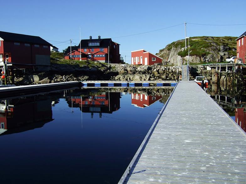 Gjestebrygge på Aursøya, Mausund.