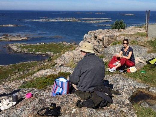 Strandhugg på Sula, en øy i Frøyas skjærgård, Øyrekka