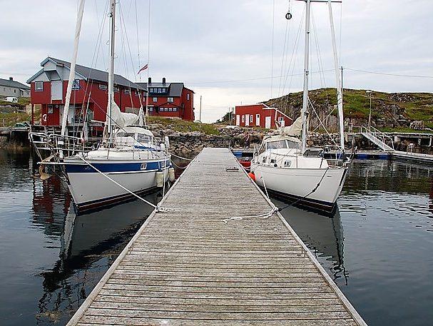 Gjestebrygge på Mausund i Øyrekka, Frøyas skjærgård sør p åTrøndelagskysten